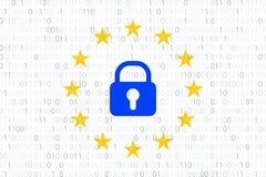 GDPR - Regolamento generale di protezione dei dati Simbolo di UE Vettore illustrazione vettoriale