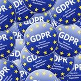 GDPR - Regulamento geral da proteção de dados Illustr múltiplo do sinal Imagens de Stock