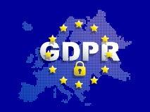 GDPR - Regulamento geral da proteção de dados imagem de stock royalty free