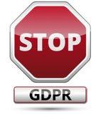GDPR - Regulamento geral da proteção de dados Sinal de tráfego Fotos de Stock Royalty Free