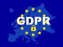 GDPR - Regulamento geral da proteção de dados foto de stock
