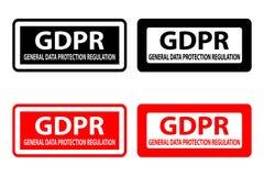 GDPR - rubber stämpel stock illustrationer