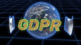 GDPR security concept background, 3d rendering. GDPR security concept background, 3d render Royalty Free Stock Photo