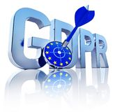 GDPR symbol. §D rendering of a GDPR icon Royalty Free Stock Photos