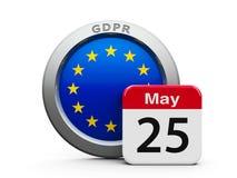 GDPR-Tag-EU lizenzfreie abbildung
