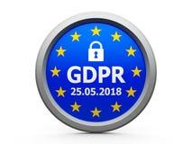 GDPR-Tag-EU 2 stock abbildung