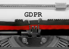GDPR text that means General Data Protection Regulation is a reg Royalty Free Stock Photo