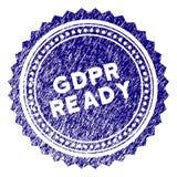 GDPr texturisé grunge Rosette Stamp Seal prête Image libre de droits