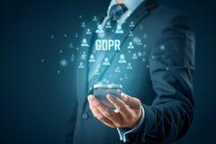 GDPR und intelligentes Telefonkonzept lizenzfreies stockbild