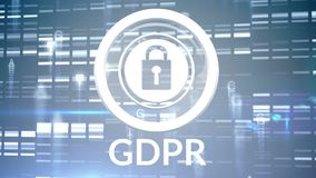 GDPR-Video stock abbildung