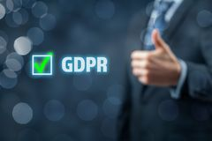 GDPR wird eingeführt Lizenzfreies Stockbild