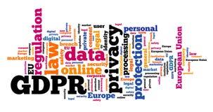 GDPR word cloud royalty free illustration
