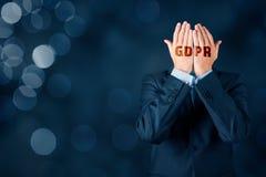 GDPR y concepto de la protección de información personal fotos de archivo