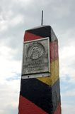 GDR. Border Landmark of the German Democratic Republic (/DDR) in Schifflersgrund Royalty Free Stock Photo