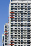 GDR architecture. East German City ( Berlin ), typical socialistic GDR architecture Stock Photos