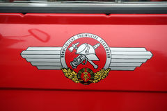 GDR - Emblem of fire brigades Royalty Free Stock Image