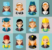 gdy avatar był guzik może target1540_2_ używać sieć ikon ludzie Obraz Royalty Free