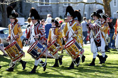 gdy British ubierali muzyków ludzi Zdjęcia Royalty Free