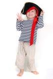 gdy dziecko ubierał pirata portreta potomstwa Fotografia Stock