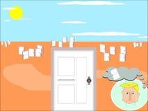 Gdy Jeden drzwi Zamyka, Inny drzwi Otwiera royalty ilustracja