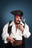 gdy mężczyzna ubierający pirat Zdjęcie Stock