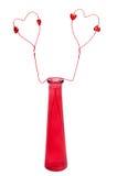 gdy serca kochają symbol czerwoną wazę dwa Obraz Royalty Free