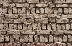 gdy tła cegieł gliny ściana Fotografia Stock