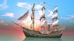 gdy tło błękitny był łódkowate łodzie mogą target188_0_ ciemne etc flaga target191_0_ hotelowi wizerunku logotypu morscy czerwoni ilustracja wektor