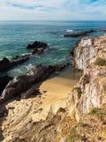 Gdy w Porto Furnas plaża robi Syna Zdjęcia Royalty Free