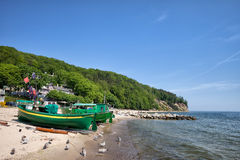 Gdynia Beach and Coastline in Poland Royalty Free Stock Images