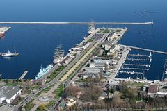 Gdynia city port Stock Photos