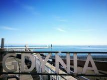 Gdynia cityscape Arkivbilder