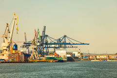 Gdynia Container Terminal on 13 Juny 2015, Poland Royalty Free Stock Photos