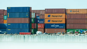Gdynia Container Terminal on 13 Juny 2015, Poland Stock Images