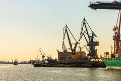 Gdynia Container Terminal on 13 Juny 2015, Poland Stock Photos