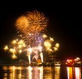 Gdynia entro la notte Fotografia Stock