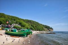 Gdynia linia brzegowa w Polska i plaża Obrazy Royalty Free