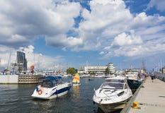 Gdynia marina Stock Images
