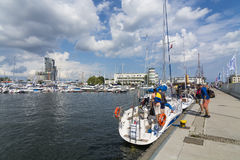 Gdynia marina Royalty Free Stock Images