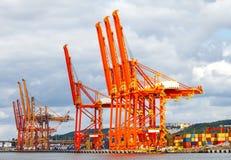 Gdynia. Marine cargo port Royalty Free Stock Photo