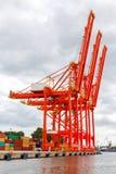 Gdynia. Marine cargo port Royalty Free Stock Photos