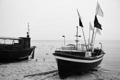 Gdynia Orlowo Artistiek kijk in zwart-wit Stock Afbeelding