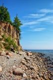 Gdynia Orlowo klippa på Östersjön i Polen Royaltyfri Foto