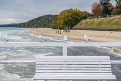 Gdynia Orlowo. Pier in Orlowo district in Gdynia, Poland Royalty Free Stock Photography