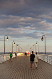 GDYNIA ORLOWO, POLAND - JUNE 16: Crowd people on the pier. June Stock Images