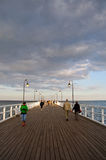 GDYNIA ORLOWO, POLAND - JUNE 16: Crowd people on the pier. June Stock Photo