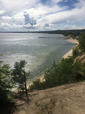 Gdynia Orlowo, Poland, high cliffs of the Gdansk Bay Royalty Free Stock Image