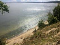 Gdynia Orlowo, Poland, high cliffs of the Gdansk Bay Royalty Free Stock Photo