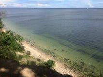Gdynia Orlowo, Pologne, de hautes falaises de Danzig aboient Photographie stock