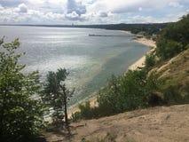 Gdynia Orlowo, Pologne, de hautes falaises de Danzig aboient Photo libre de droits